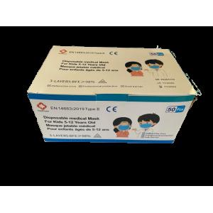 Indispensables COVID-19 : Masques chirurgicaux Enfants (Type II) - Boite de 50 - Qualité premium à 4,50€